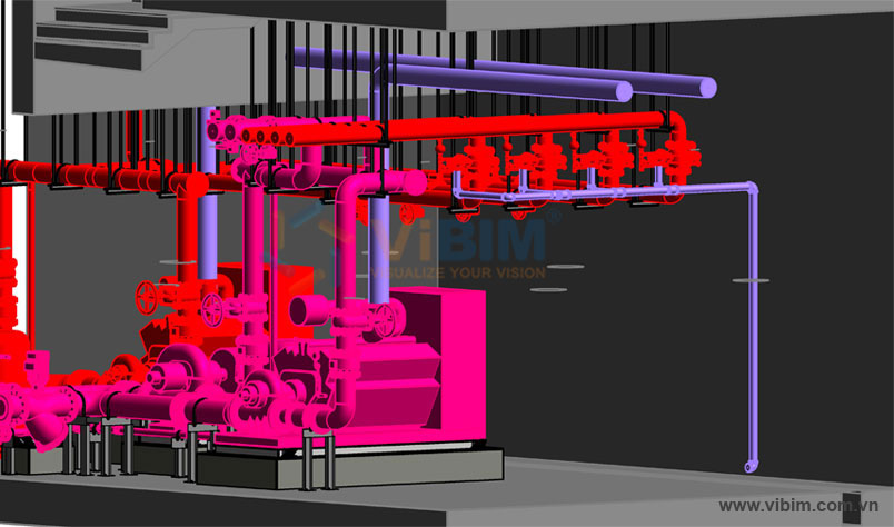 3D fire protection modeling from 2D cad drawing