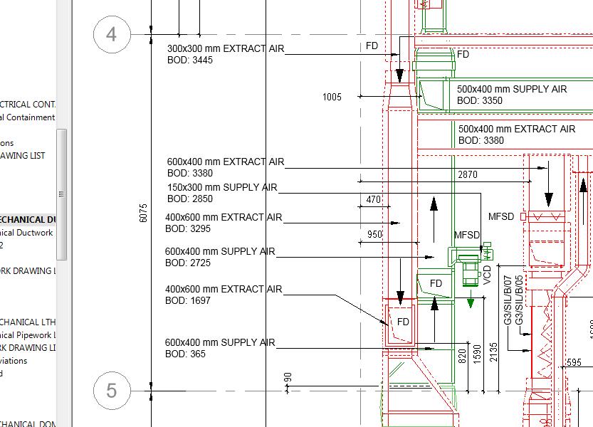 HVAC detail drawing