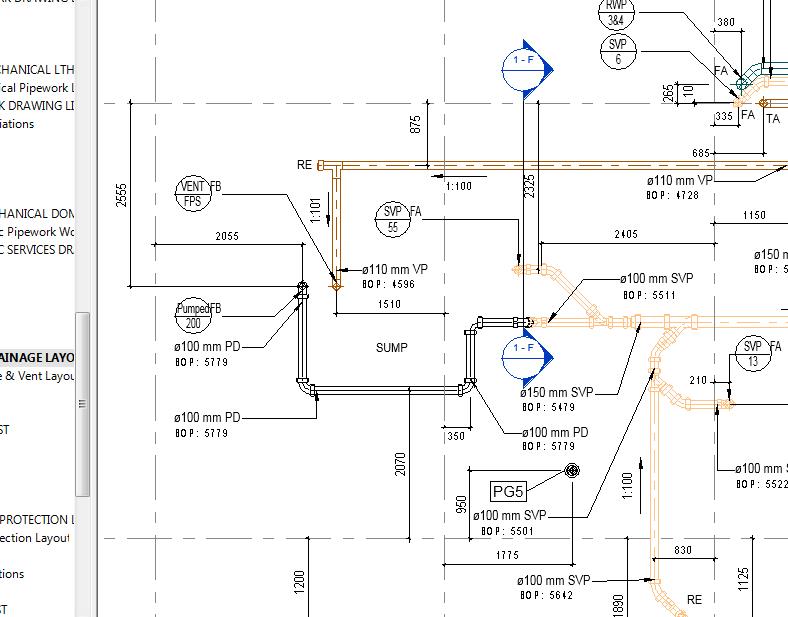 Plumbing detail drawing
